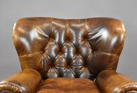 Large Brown Leather Arm Chair (3 of 8)