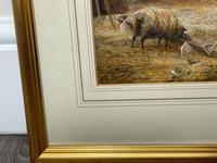 "Watercolour ""Tending The Sheep"" By Bertha Rhodes RA Rca Exh 1905 -1912 (17 of 41)"