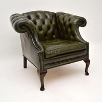 Antique Georgian Style Leather Armchair