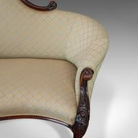 Antique Spoon Back Sofa, English, Walnut, 2 Seat Settee, Early Victorian, 1840 (4 of 12)