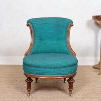 Tub Chair 19th Century Carved Mahogany (5 of 8)