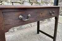 Antique Georgian Oak Side Table (10 of 14)