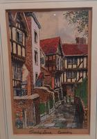 Water coloured Ink drawing of Coventry, Trinity Lane (2 of 3)