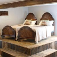 Matching Pair of Single Walnut Antique Beds
