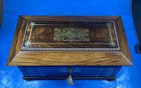 Regency Rosewood Brass Foliate Inlaid Tea Caddy (11 of 15)
