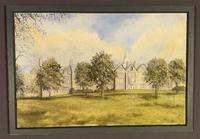 Oil on Canvas Countryhouse Scene Signed (4 of 8)
