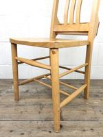 Set of Four Vintage Beech Chapel Chairs (14 of 16)