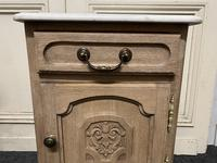 Pair of French Bleached Oak Bedside Cupboards (10 of 13)