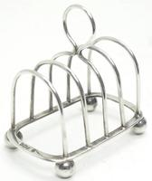 English Antique Solid Silver Toast Rack, Super Design Fresh & Clean c.1921 (3 of 4)