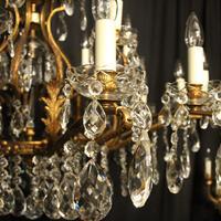 Italian Gilt & Crystal 22 Light Antique Chandelier (5 of 10)