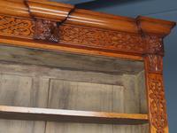 Antique Victorian Golden Oak Open Bookcase (7 of 20)
