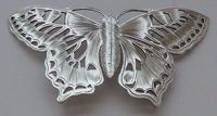 Rare Art Nouveau 1900 Hallmarked Silver Nurses Belt Buckle Butterfly Design (9 of 10)