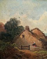 Joseph Horlor Small Original 19th Century Welsh Landscape Oil Painting (4 of 12)