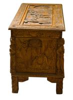 Early 20th Century Chinese Style Carved Camphorwood Chest (4 of 11)