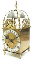 Superb Vintage English Lantern Clock - Pendulum 8-day Striking Mantel Clock c.1890 (2 of 12)