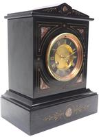 French Slate & Marble Mantel Clock 8 Day Striking Mantle Clock (8 of 8)