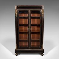 Tall Antique Vitrine Cabinet, English, Display Case, Bookcase - Regency (2 of 12)
