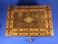 Victorian Walnut Tunbridge Ware Inlaid Jewellery Box (7 of 11)