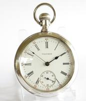 Antique Waltham Silver Pocket Watch, 1896 (2 of 4)