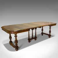 Large Antique Extending Dining Table, French, Walnut, Seats 4-10 c.1900 (12 of 12)