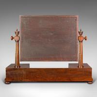 Antique Dressing Mirror, English, Mahogany, Boudoir, Pedestal Base, Victorian (6 of 12)
