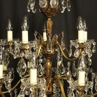 Italian 15 Light Gilded Bronze Antique Chandelier (7 of 10)