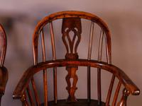 A Near Pair of Childs Yew Wood Windsor chairs (11 of 14)