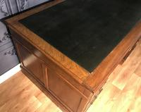 Edwardian Mahogany Pedestal Desk (5 of 5)