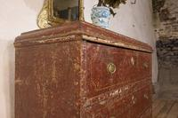 18th Century Gustavian Original Painted Commode - Red (14 of 15)