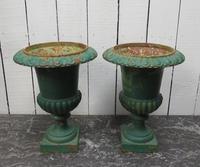 Pair Antique Cast Iron Medici Urns (7 of 7)