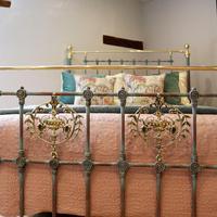 Decorative Antique Bed in Blue Verdigris (4 of 9)