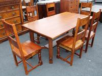 1960's Teak Refectory Table & Set of 6 Dining Chairs '4+2 Carvers' (2 of 3)