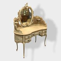 Italian Paint and Cane Dressing Table