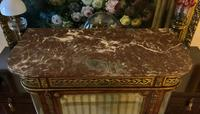 Exceptional 19th Century French Kingwood Parquetry Gilt Metal Vitrine Display Cabinet (10 of 17)