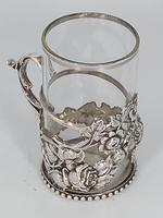 Silver & Glass Tea / Coffee Holder (3 of 4)