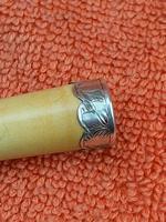 Antique Sterling Silver  Meerschaum & Amber Cheroot Holder C1895 (5 of 8)