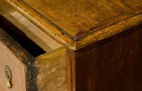 Queen Anne Oak & Walnut Chest of Drawers with running scroll (6 of 8)