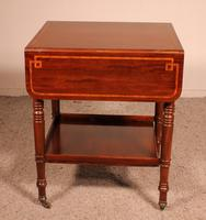 Pembroke Table In Mahogany & Inlay 19th Century - England (9 of 16)
