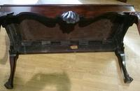 Unusual 19th Century Irish Mahogany Hall Bench (4 of 9)
