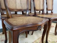 Vintage French Louis Style Set Of 6 Cherry Wood Bergère Cane Dining Chairs (8 of 10)