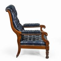 Pair of William IV Mahogany & Leather Upholstered Armchairs (4 of 11)