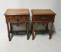 Pair of French Walnut Bedside Lamp Tables (2 of 10)