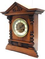 Light Mahogany Bracket Mantel Clock Architectural Striking 8 Day Mantle Clock (4 of 6)