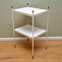1950's Vintage Steel & Brass Side Table (4 of 9)
