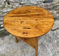 Antique Pine Cricket Table with Shelf (7 of 11)