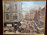 """Figurative Art Oil Painting Manchester Market Place """"The Street Traders"""" by Patrick Burke (3 of 34)"""