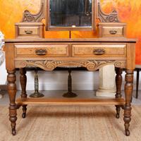 Dressing Table Burr Walnut Mirrored 19th Century (4 of 9)