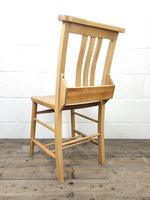 Set of Eight Vintage Beech Chapel Chairs (16 of 16)