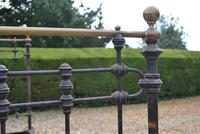 Original Victorian Brass and Iron King Size 5ft Bedstead. Bed Fully Restored in Your Choice of Colour (12 of 15)