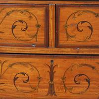 Inlaid Satinwood Chest of Drawers by S & H Jewells (3 of 14)